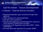 call for action future development