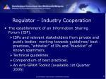 regulator industry cooperation