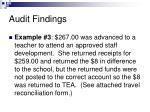audit findings9