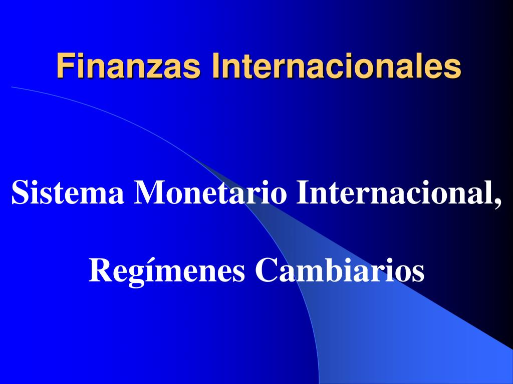 finanzas internacionales l.