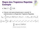 regra dos trap zios repetida exemplo