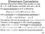 ehresmann connections