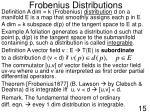 frobenius distributions