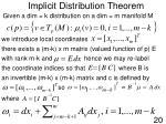 implicit distribution theorem