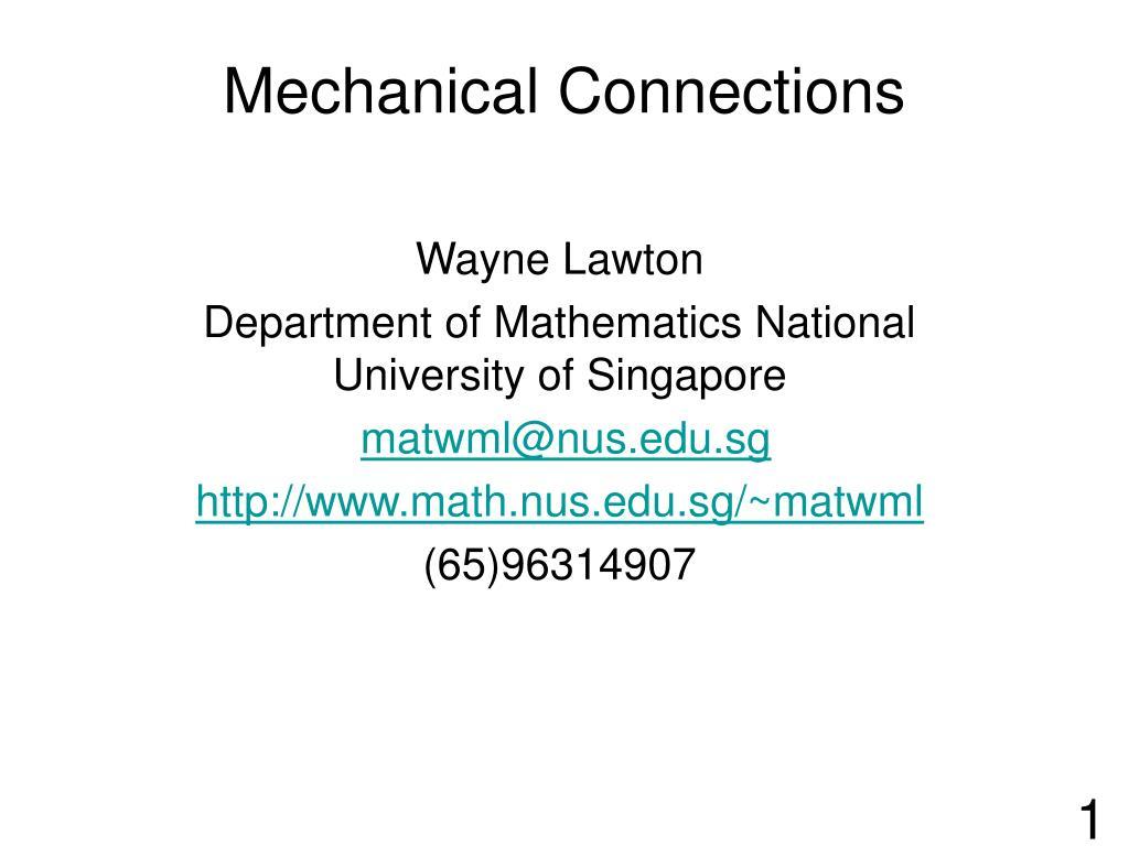 mechanical connections l.