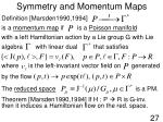 symmetry and momentum maps