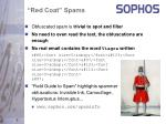 red coat spams