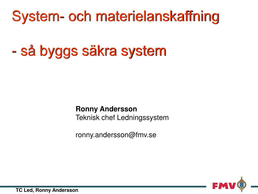 system och materielanskaffning s byggs s kra system l.