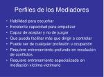 perfiles de los mediadores