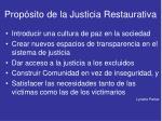 prop sito de la justicia restaurativa