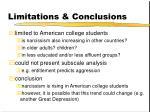 limitations conclusions