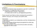limitations conclusions24