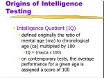 origins of intelligence testing6