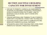 section 1118 title i building capacity for involvement