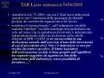 tar lazio sentenza n 5454 2005