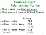 features impact relation classification44