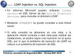 ldap injection vs sql injection