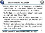 mecanismos de prevenci n