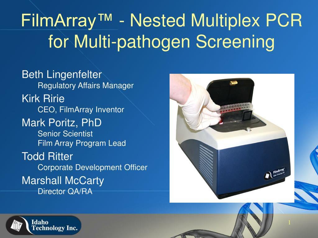 filmarray nested multiplex pcr for multi pathogen screening l.