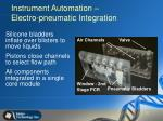 instrument automation electro pneumatic integration