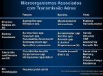 microorganismos associados com transmiss o a rea