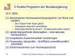 5 punkte programm der bundesregierung