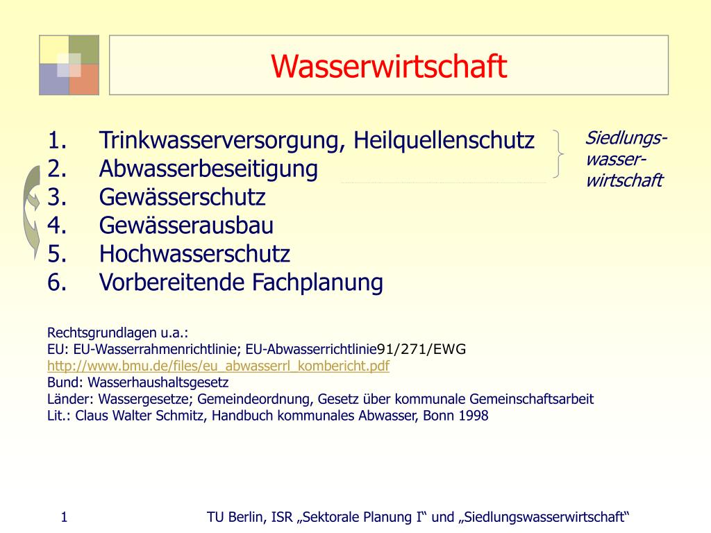 wasserwirtschaft l.