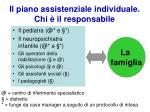 il piano assistenziale individuale chi il responsabile