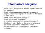 informazioni adeguate