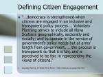 defining citizen engagement10