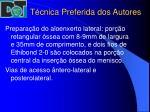 t cnica preferida dos autores14