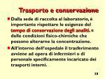 trasporto e conservazione