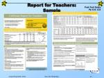 report for teachers sample