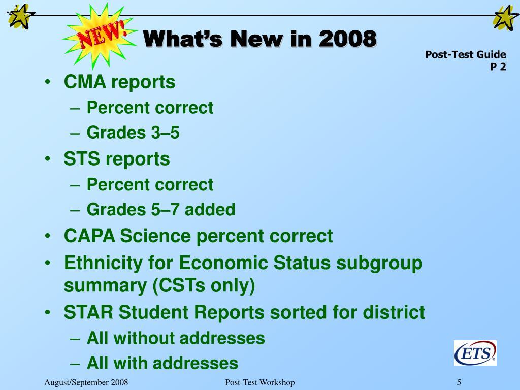 CMA reports