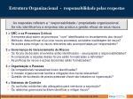 estrutura organizacional responsabilidade pelas respostas