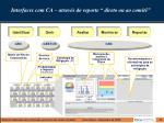 interfaces com ca atrav s do reporte direto ou ao comit