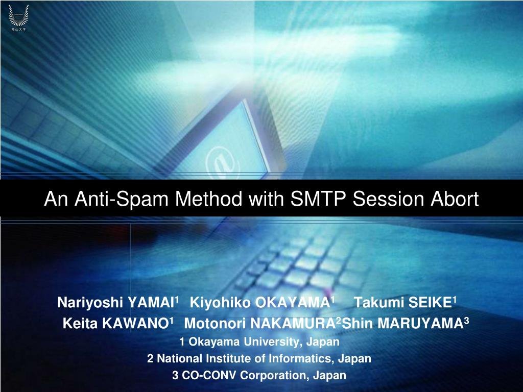 an anti spam method with smtp session abort l.