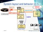 system layout and behavior 2 1