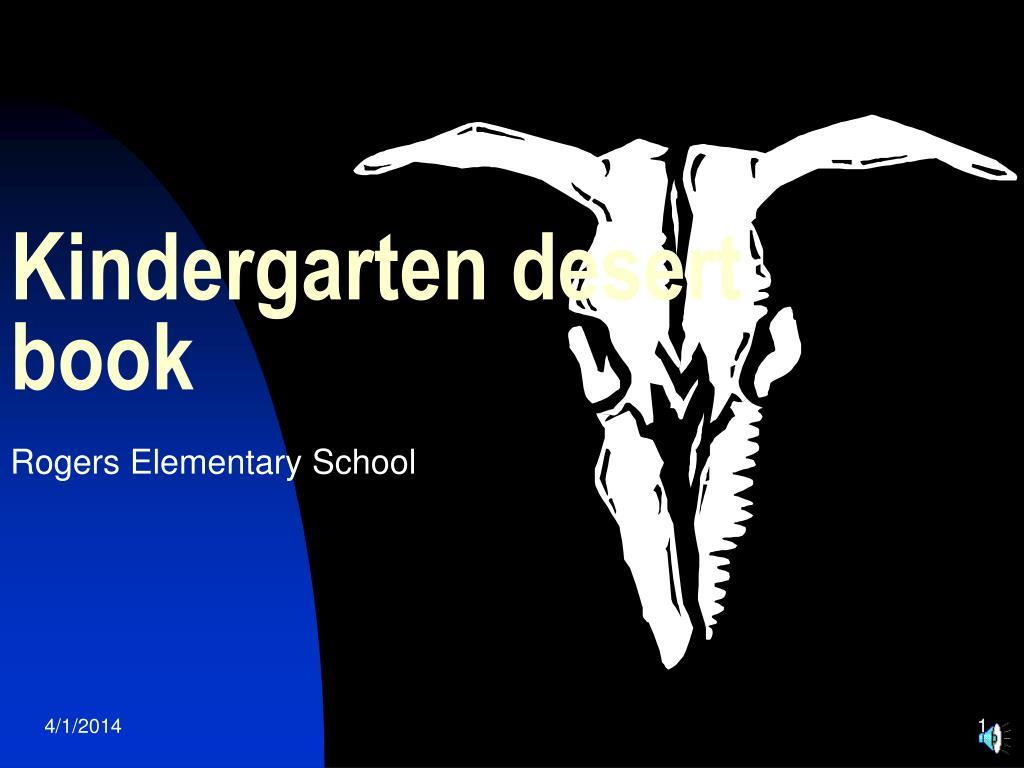 kindergarten desert book l.