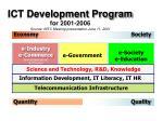 ict development program for 2001 2006 source nitc meeting presentation june 11 2001