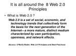 it is all around the 8 web 2 0 principles