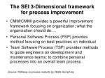 the sei 3 dimensional framework for process improvement