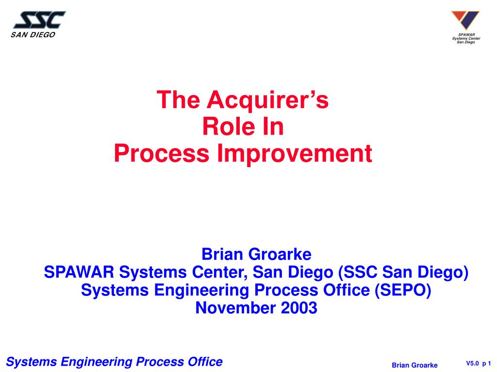 the acquirer s role in process improvement l.