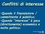 conflitti di interesse