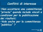conflitti di interesse33
