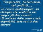 trasparenza dichiarazione dei conflitti