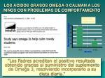los cidos grasos omega 3 calman a los ni os con problemas de comportamiento