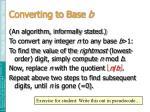 converting to base b