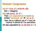 modular congruence