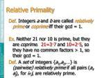 relative primality